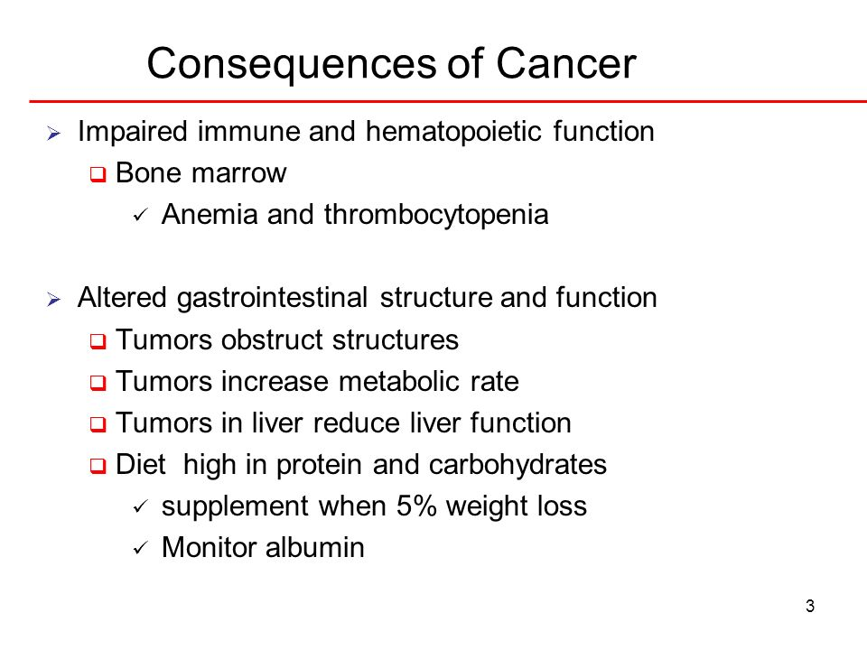 Consequences of Cancer