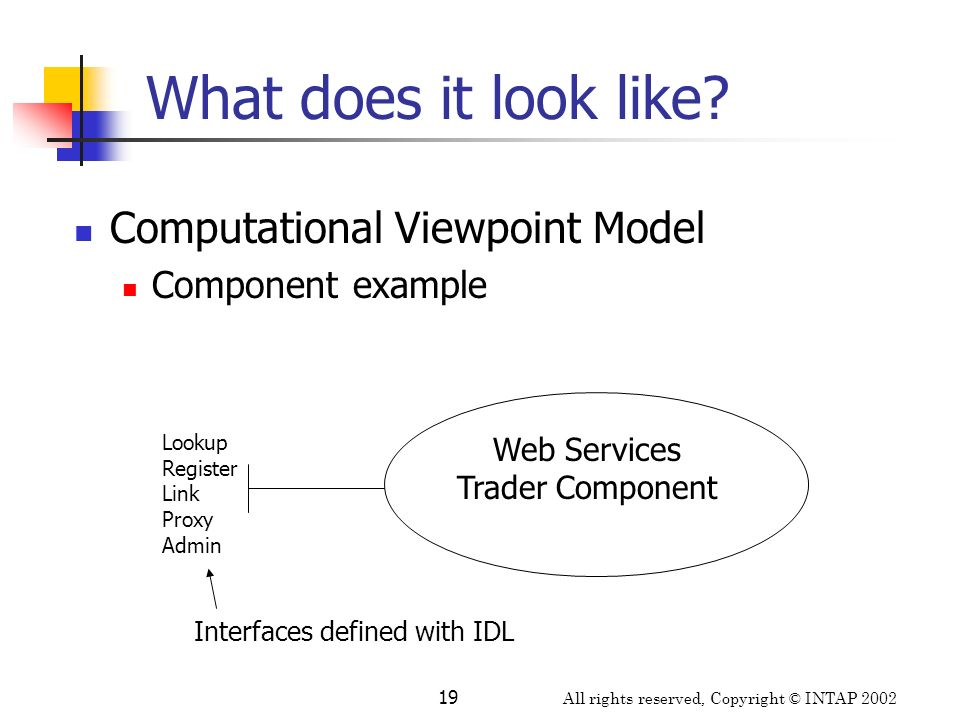 What does it look like Computational Viewpoint Model