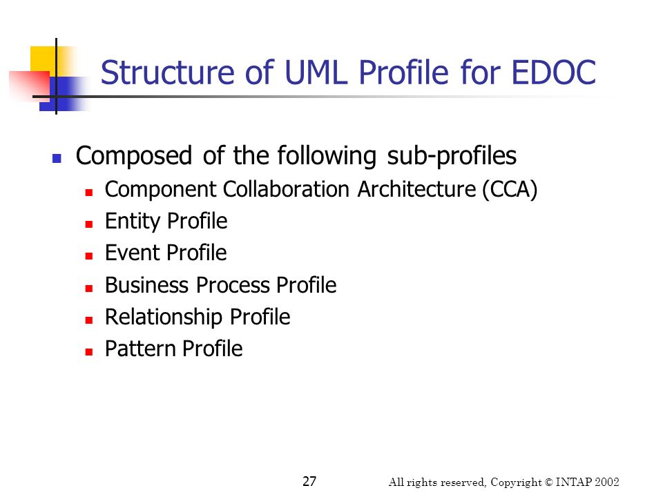 Structure of UML Profile for EDOC