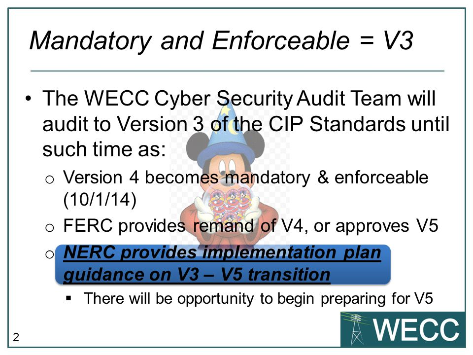 Mandatory and Enforceable = V3