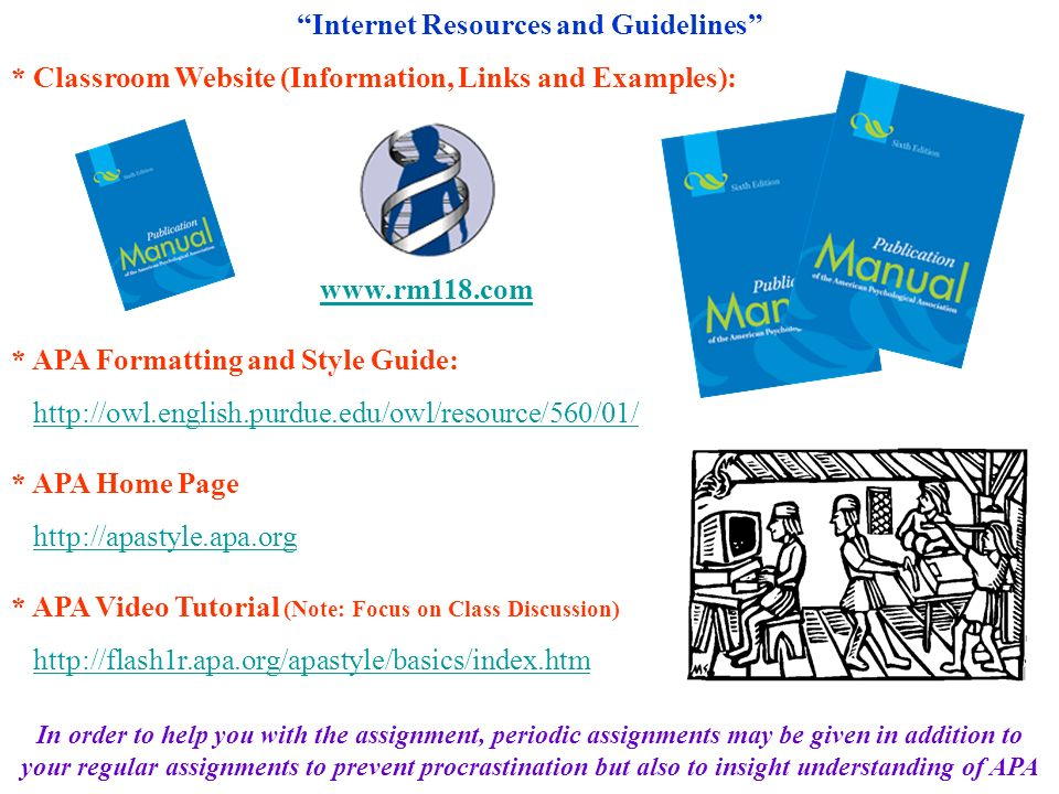 Internet Resources and Guidelines