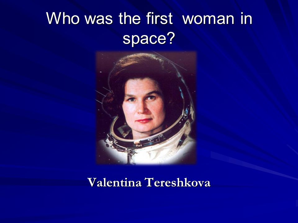 Who was the first woman in space