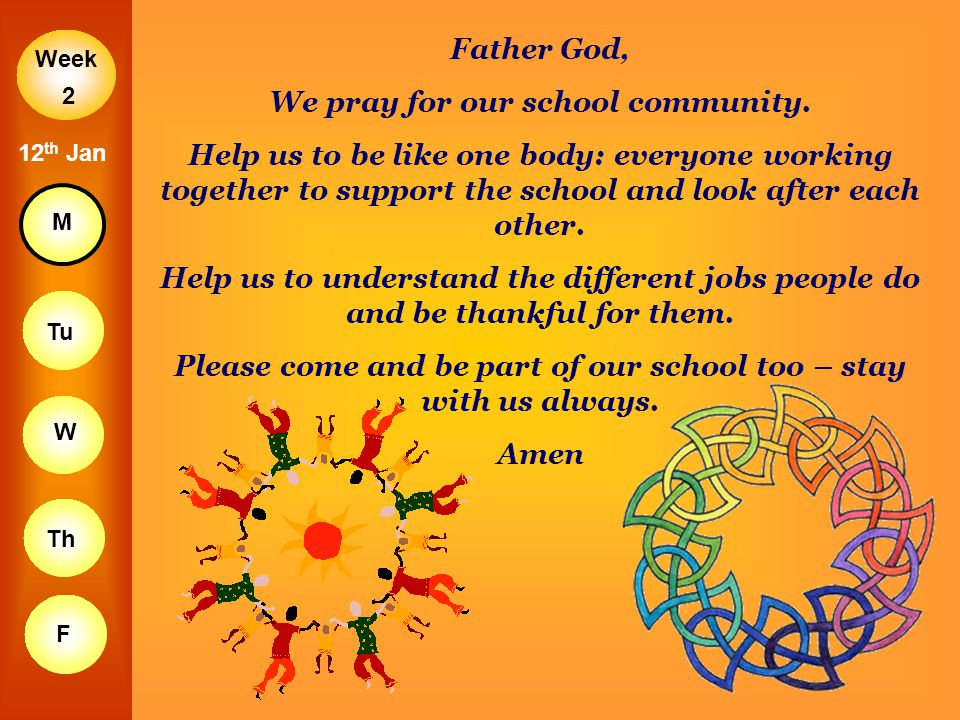 We pray for our school community.