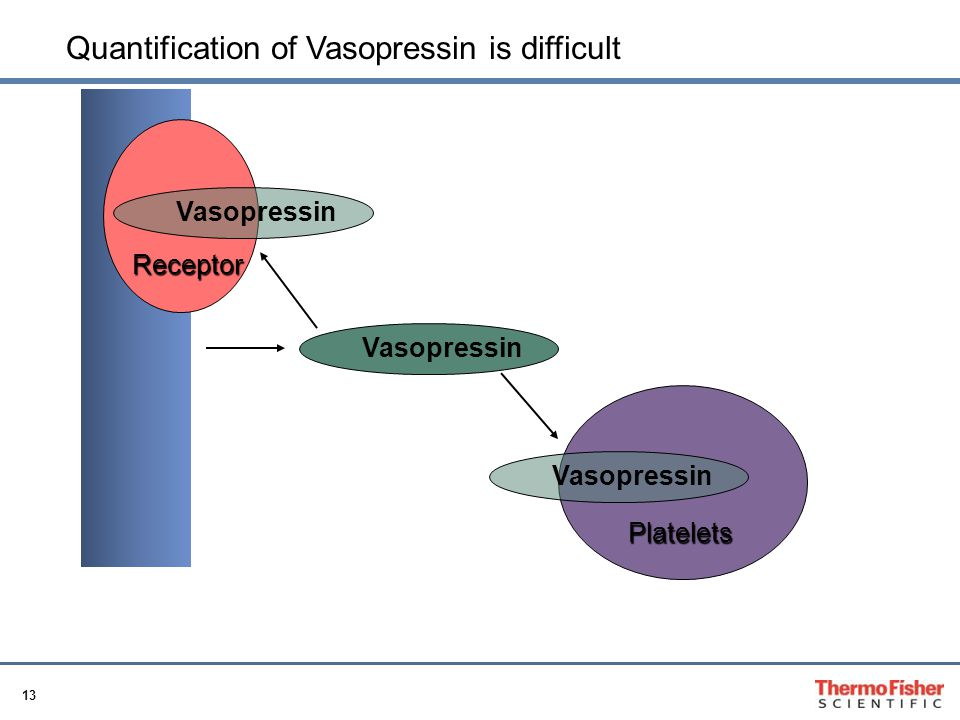 Quantification of Vasopressin is difficult