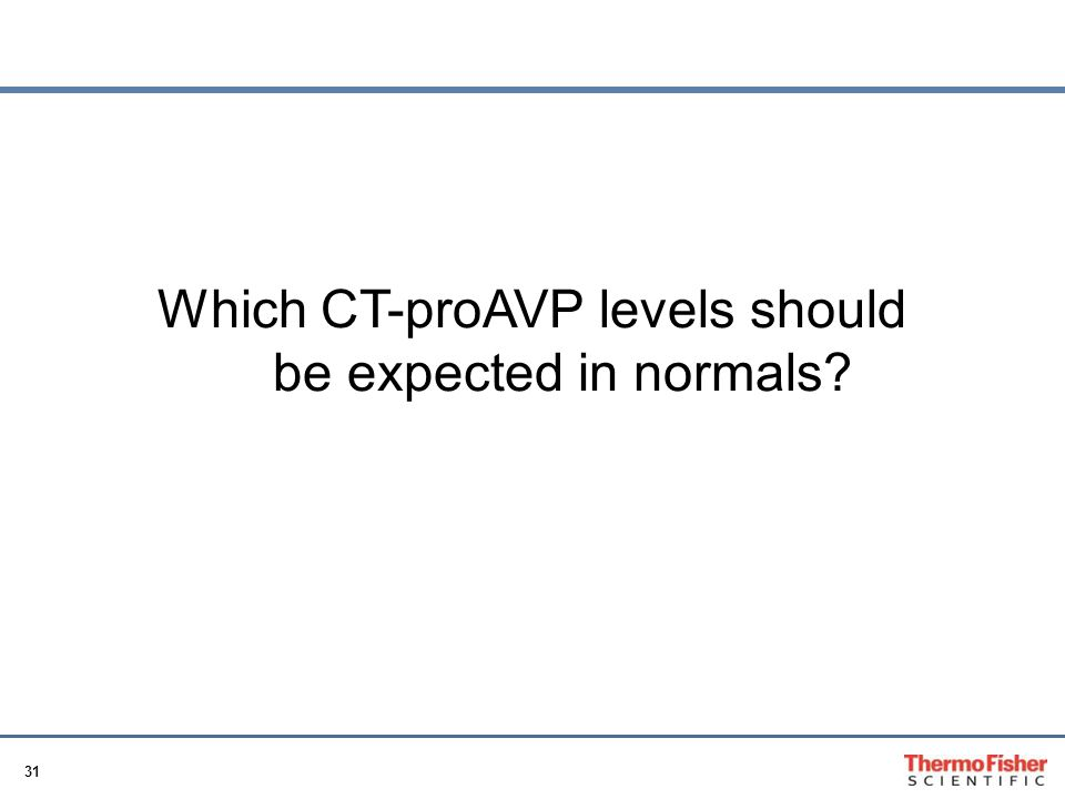 Which CT-proAVP levels should be expected in normals