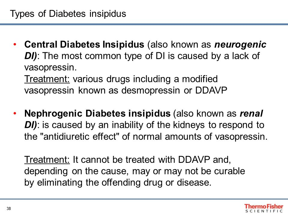 Types of Diabetes insipidus
