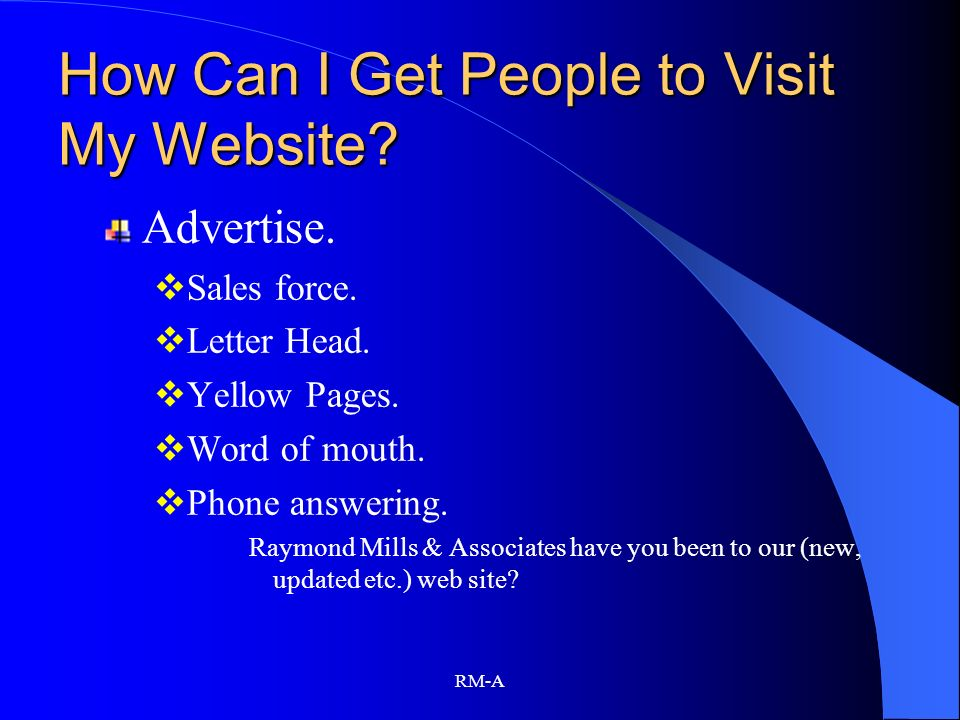 How Can I Get People to Visit My Website