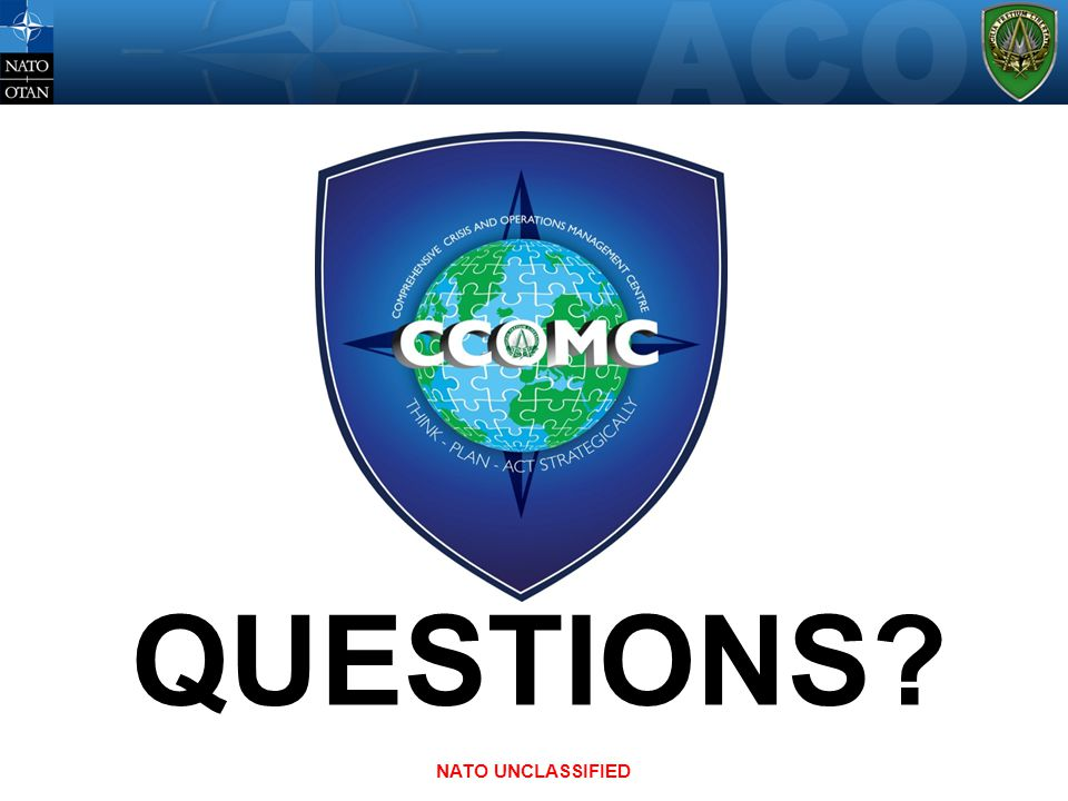 QUESTIONS NATO UNCLASSIFIED