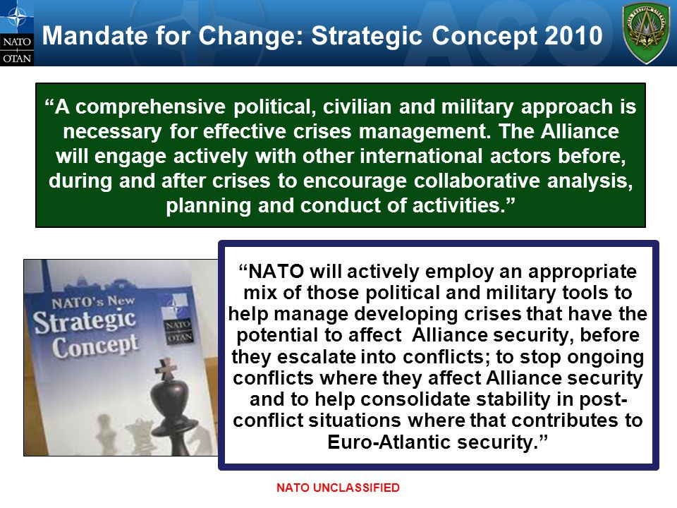 Mandate for Change: Strategic Concept 2010