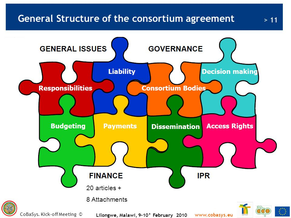 General Structure of the consortium agreement