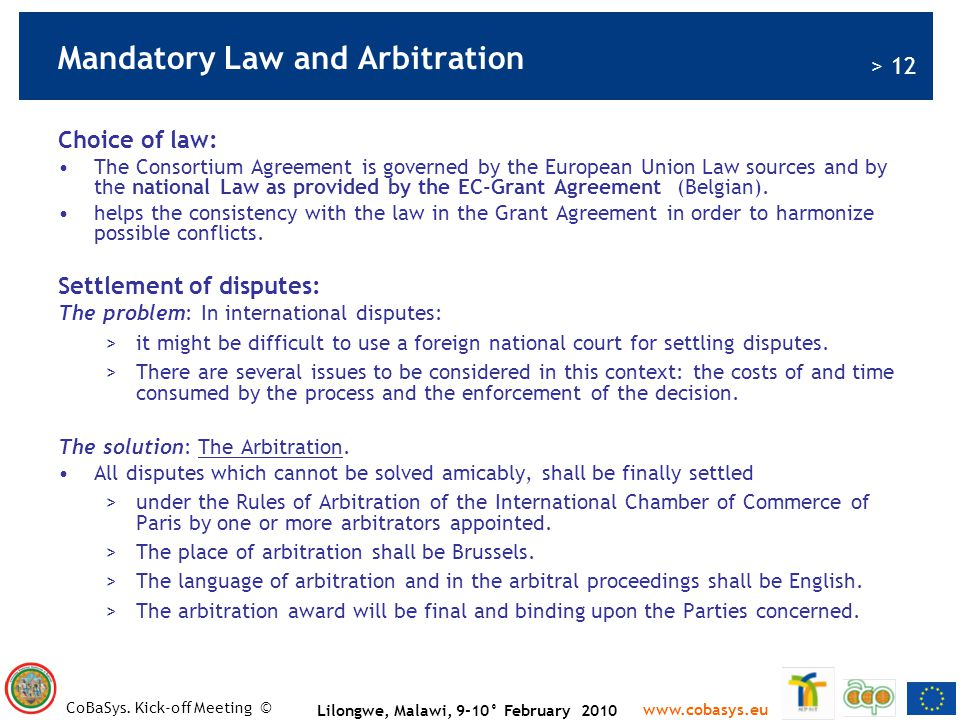 Mandatory Law and Arbitration