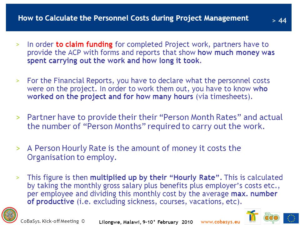 How to Calculate the Personnel Costs during Project Management
