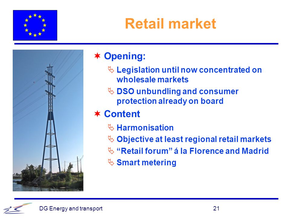 Retail market Opening: Content
