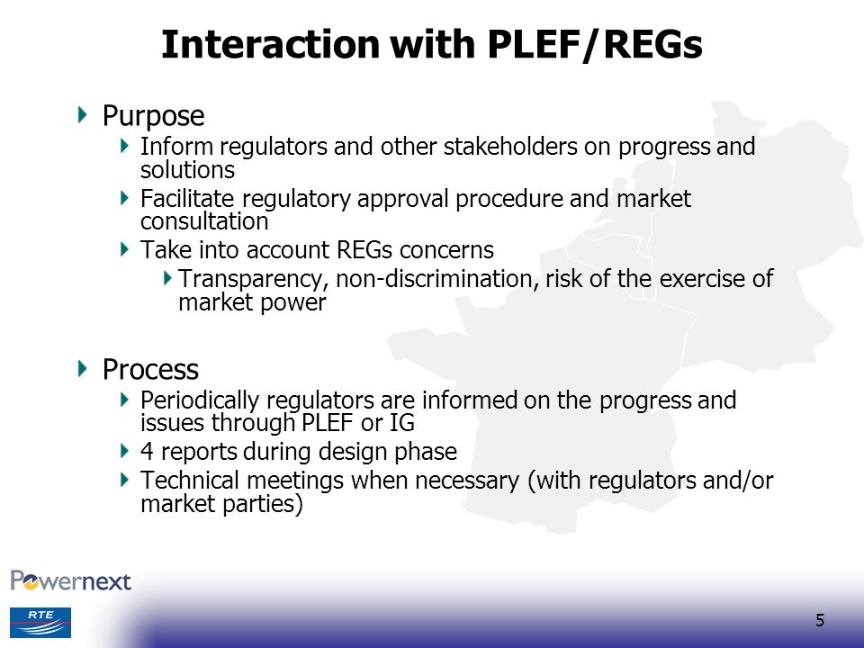 Interaction with PLEF/REGs