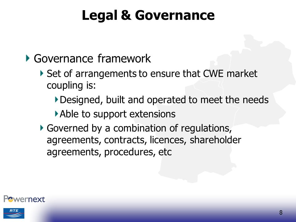 Legal & Governance Governance framework