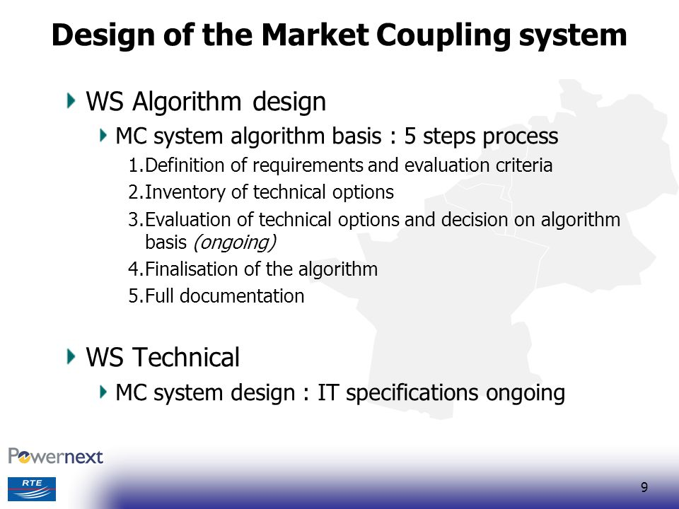 Design of the Market Coupling system