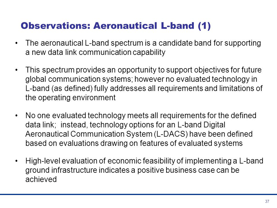 Observations: Aeronautical L-band (1)