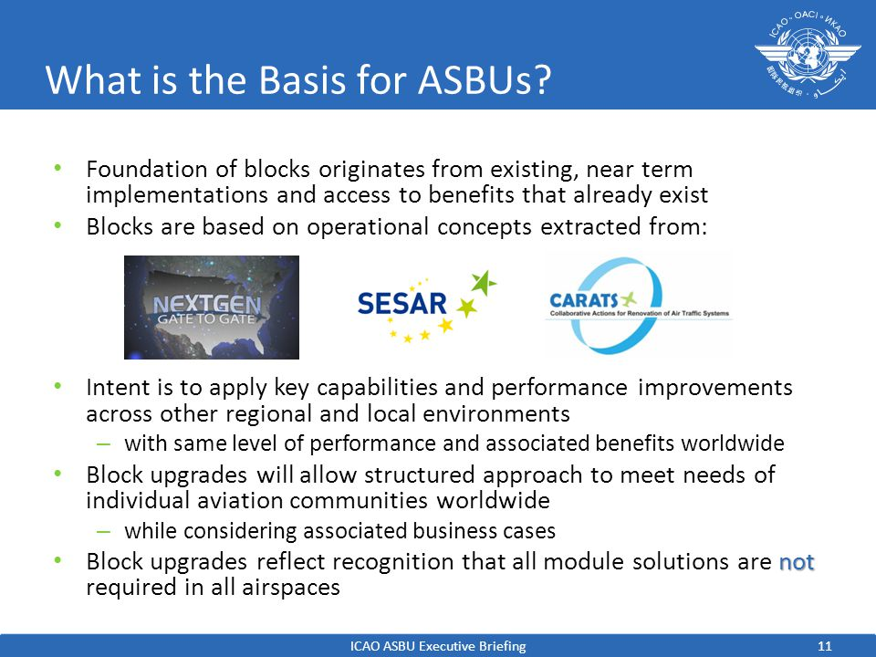 What is the Basis for ASBUs