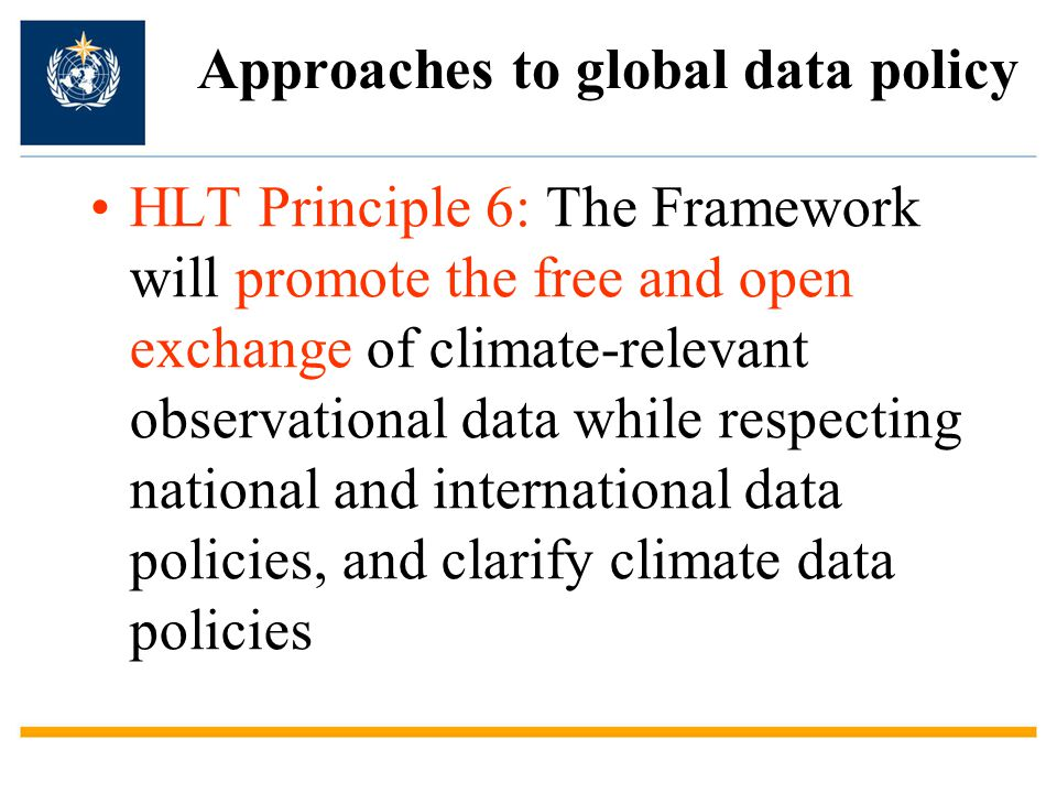 Approaches to global data policy