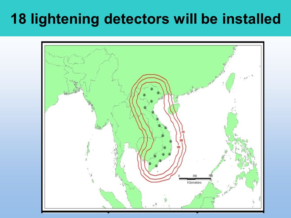 18 lightening detectors will be installed