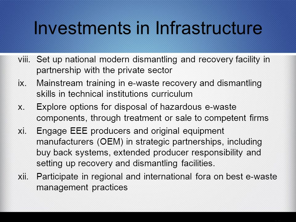 Investments in Infrastructure