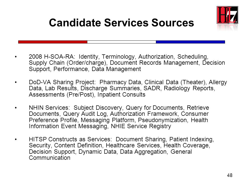 Candidate Services Sources
