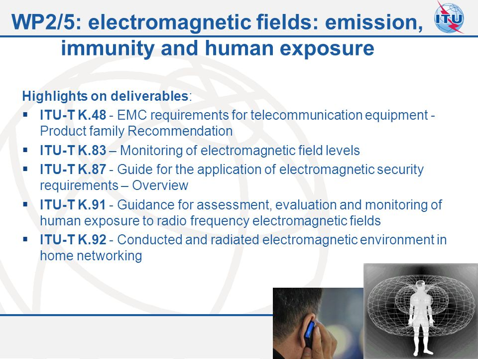 WP2/5: electromagnetic fields: emission, immunity and human exposure