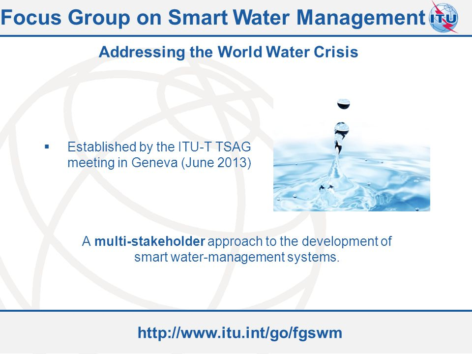 Focus Group on Smart Water Management