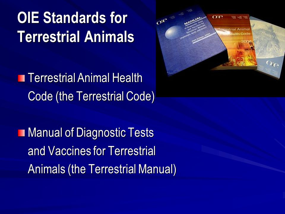 oie initiatives for zoonoses control ppt download rh slideplayer com oie terrestrial manual 2016 oie terrestrial manual 2010