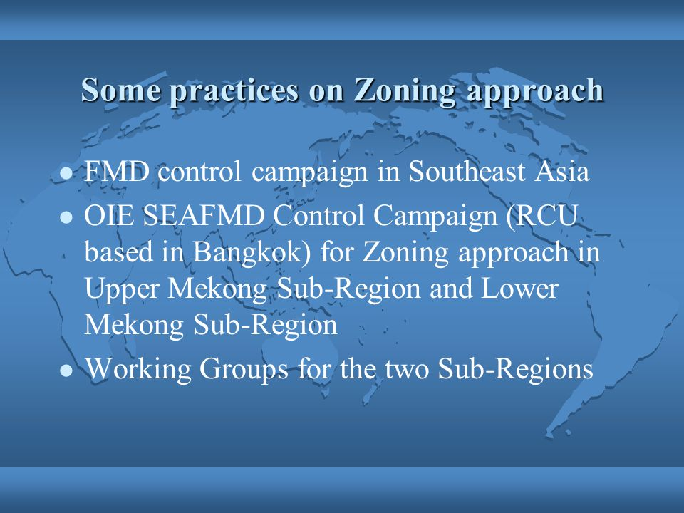 Some practices on Zoning approach