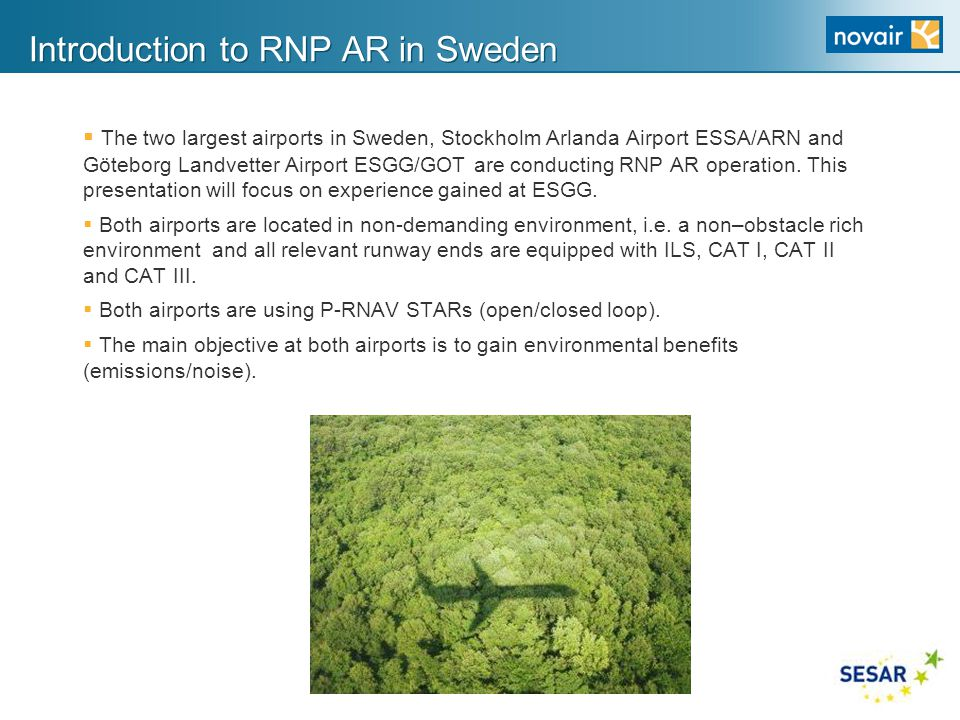 Introduction to RNP AR in Sweden