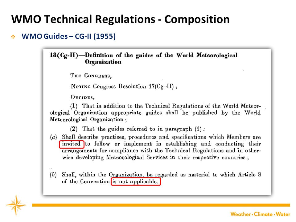 WMO Technical Regulations - Composition