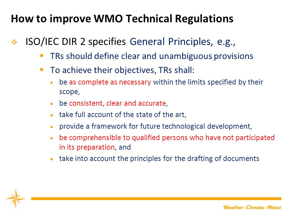 How to improve WMO Technical Regulations
