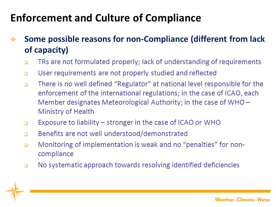 Enforcement and Culture of Compliance