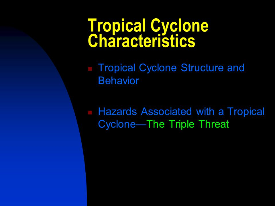 Tropical Cyclone Characteristics