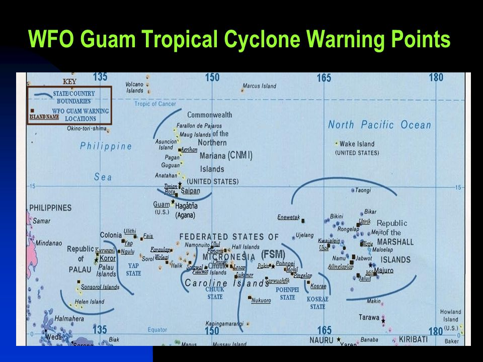WFO Guam Tropical Cyclone Warning Points