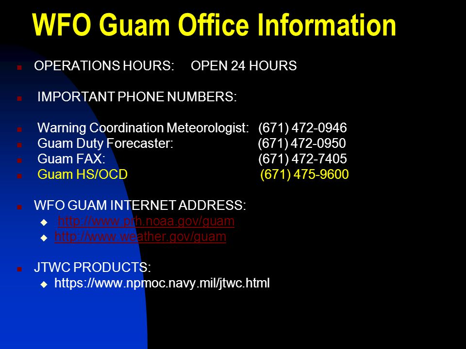 WFO Guam Office Information
