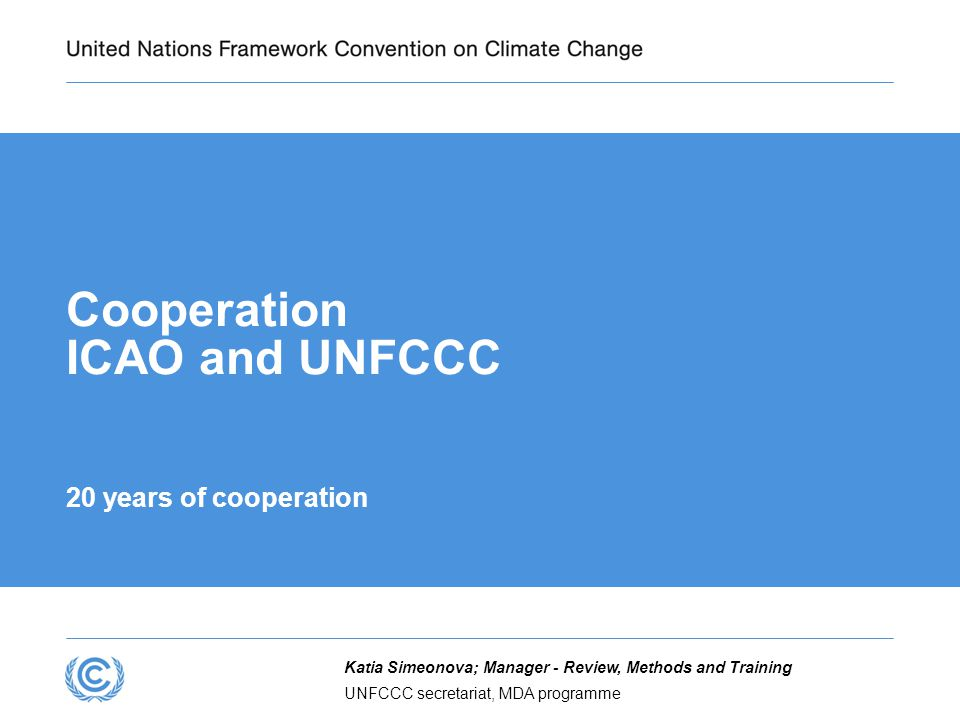 Cooperation ICAO and UNFCCC