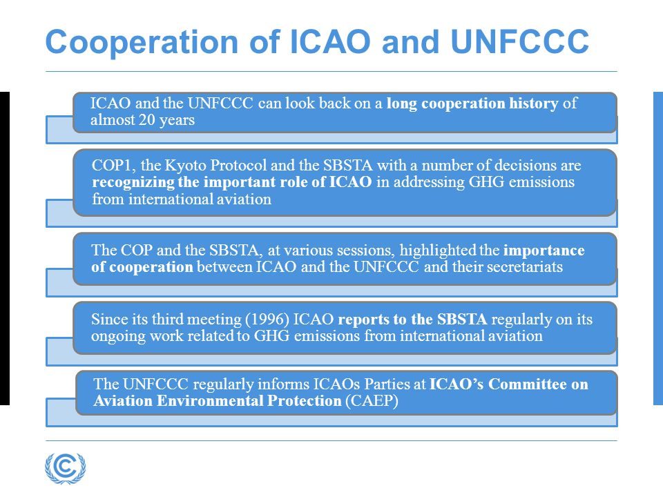 Cooperation of ICAO and UNFCCC