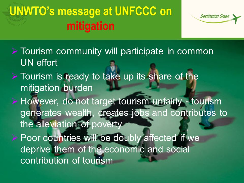 UNWTO's message at UNFCCC on mitigation
