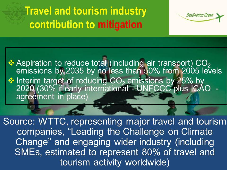 Travel and tourism industry contribution to mitigation