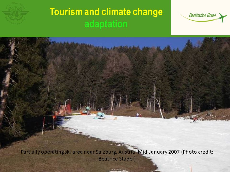 Tourism and climate change adaptation