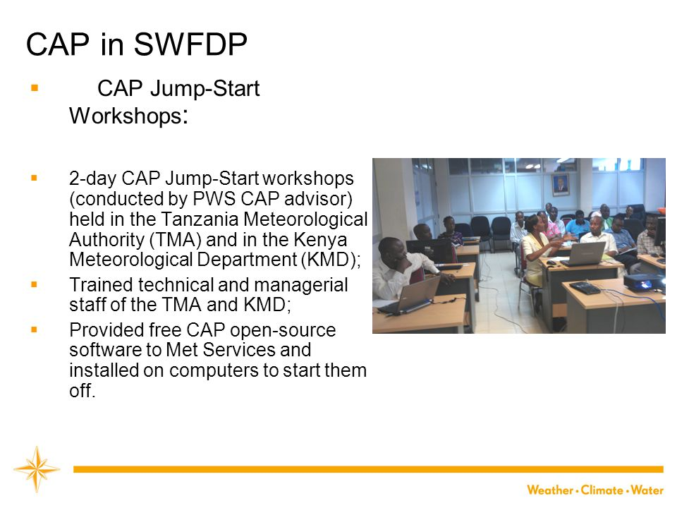 CAP in SWFDP CAP Jump-Start Workshops: