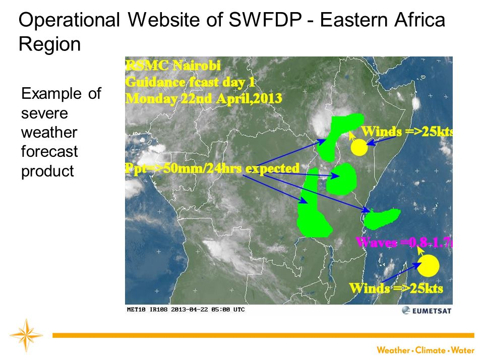Operational Website of SWFDP - Eastern Africa Region
