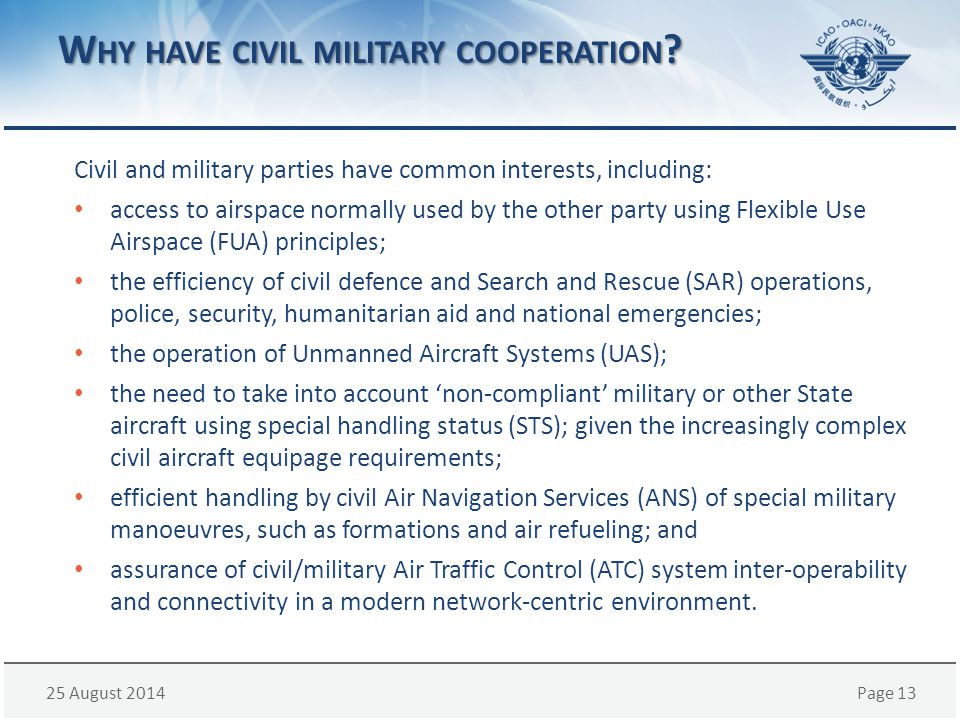 Why have civil military cooperation