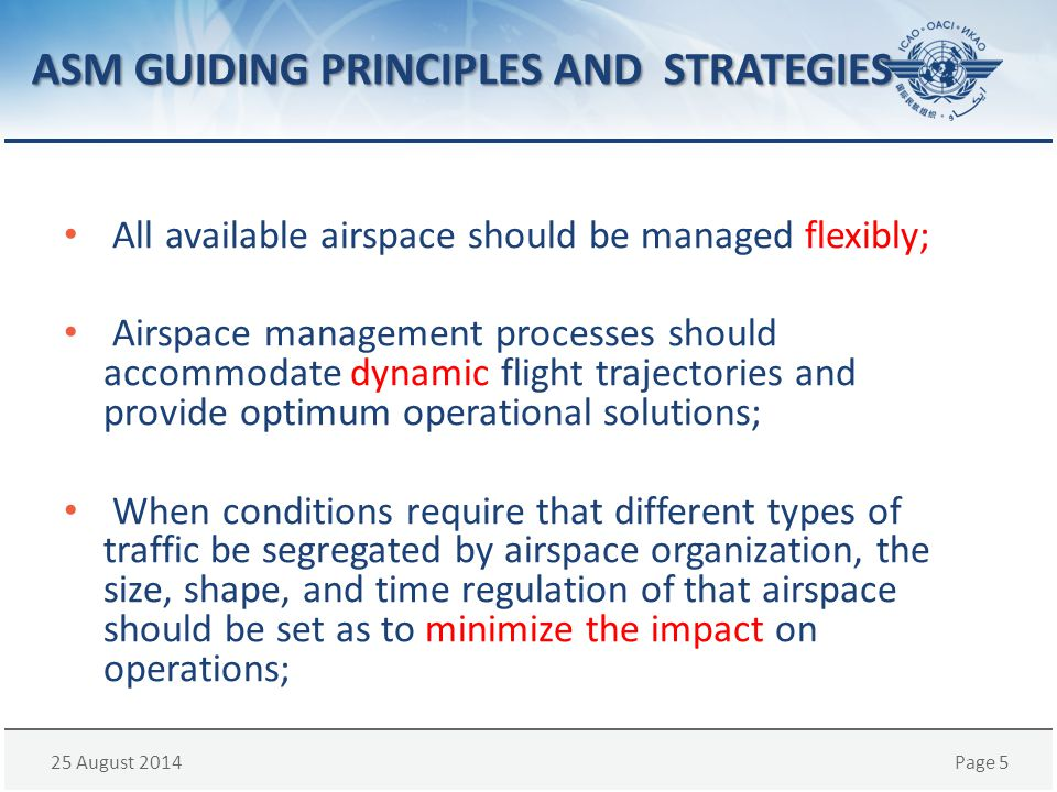 ASM GUIDING PRINCIPLES AND STRATEGIES