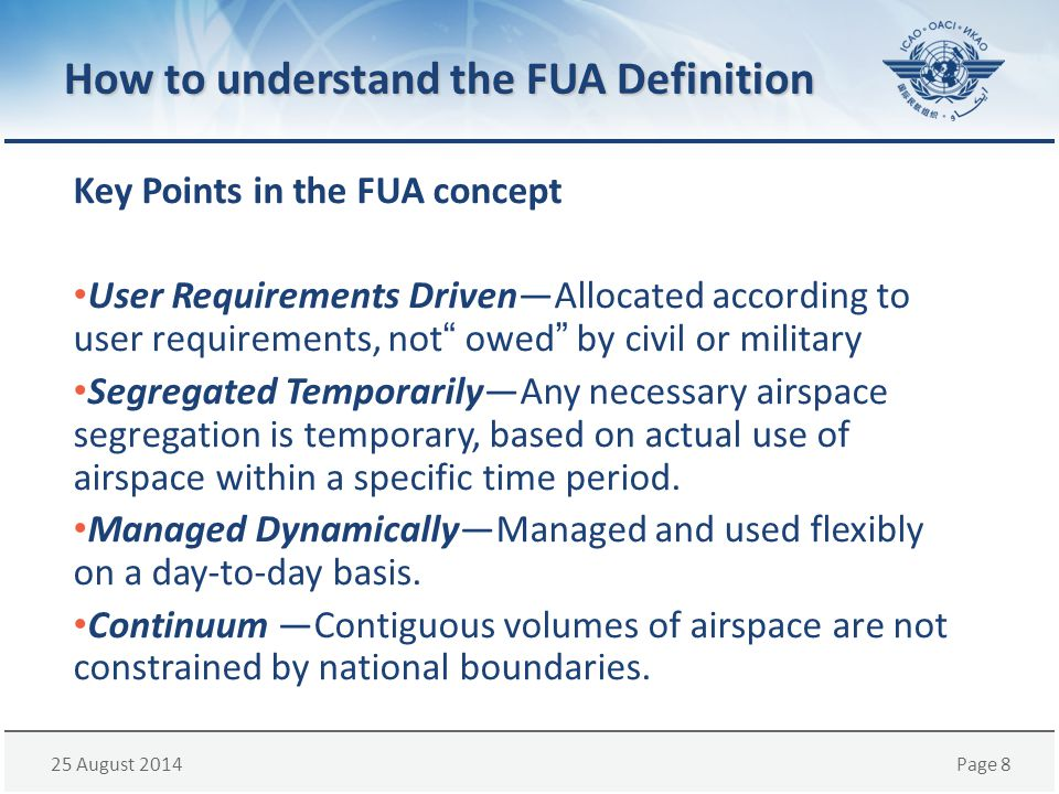 How to understand the FUA Definition