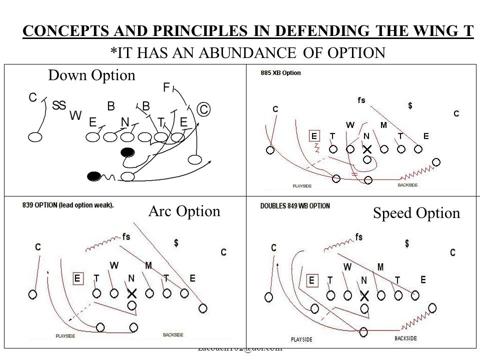 CONCEPTS AND PRINCIPLES IN DEFENDING THE WING T