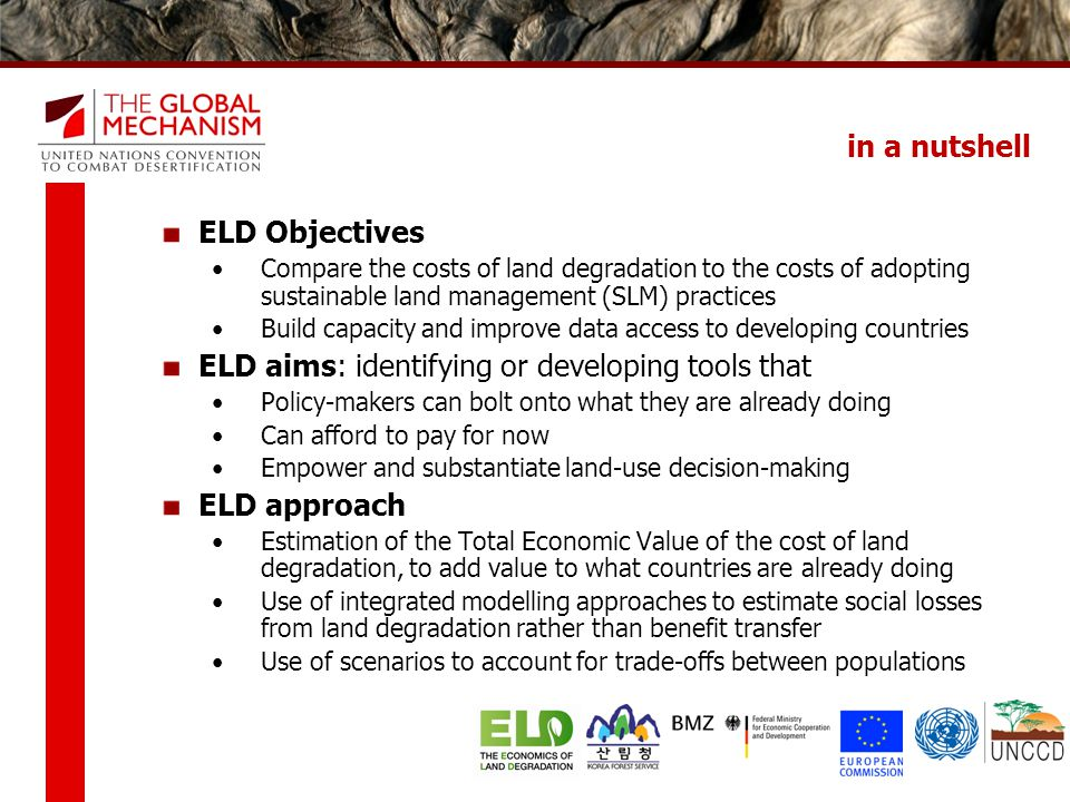 ELD aims: identifying or developing tools that