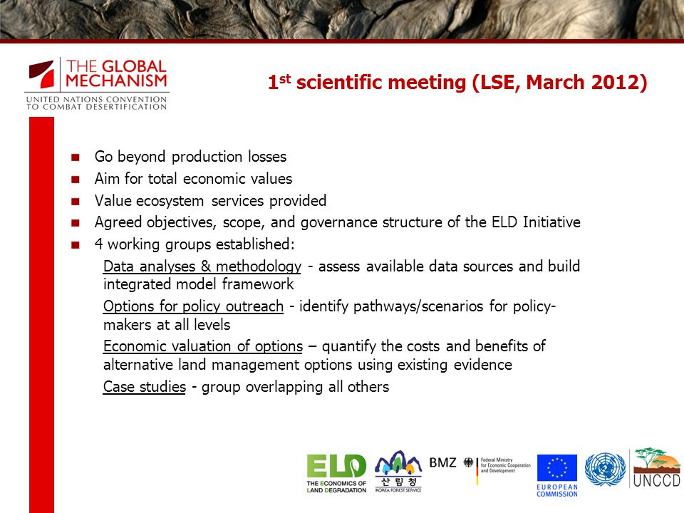 1st scientific meeting (LSE, March 2012)